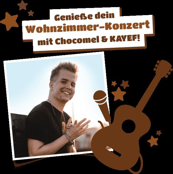 Genieße dein Wohnzimmer-Konzert mit Chocomel & KAYEF